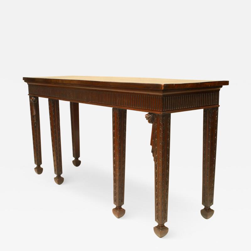 English Georgian Mahogany Console Table