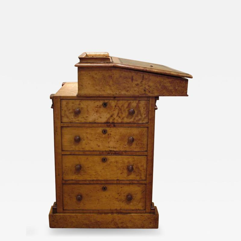 English Maple Davenport Desk of the Late Georgian Period