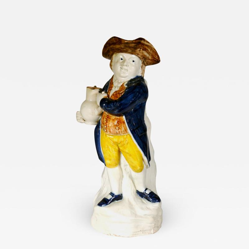 English Pottery Hearty Good Fellow Pearlware Toby Jug