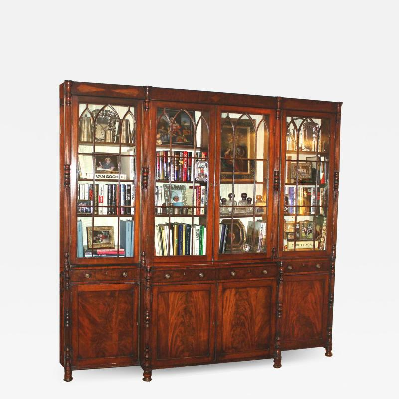 English Regency Breakfront Bookcase
