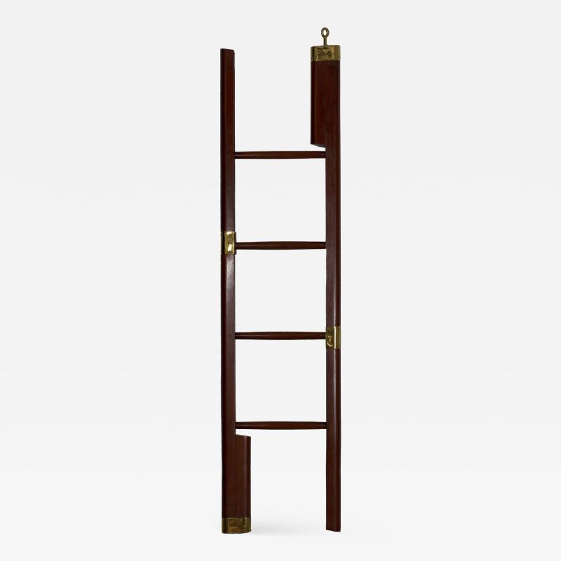 English Regency Mahogany Antique Library Ladder circa 19th century