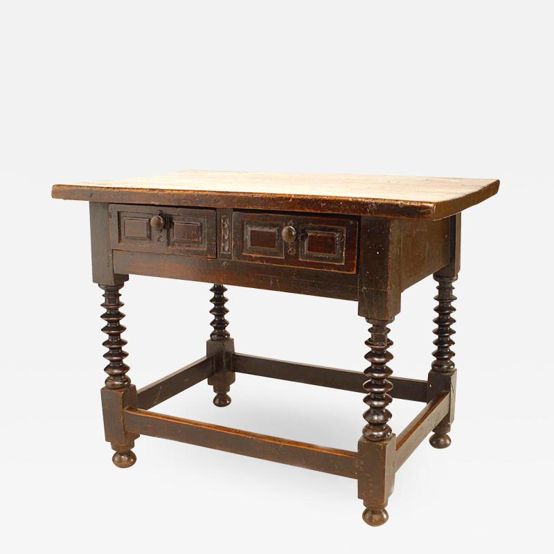 English Renaissance Walnut Table Desk