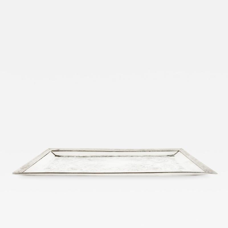 English Sheffield Plated Barware Tray