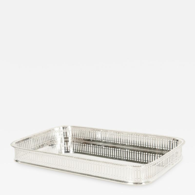 English Sheffield Silver Plated Barware Tableware Footed Tray