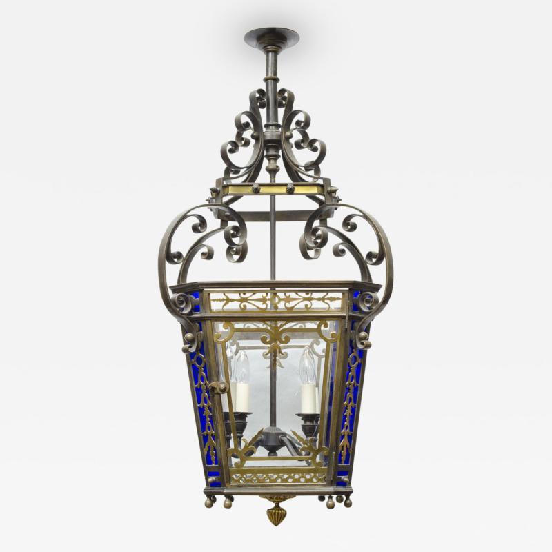 English Victorian Bronze Lantern