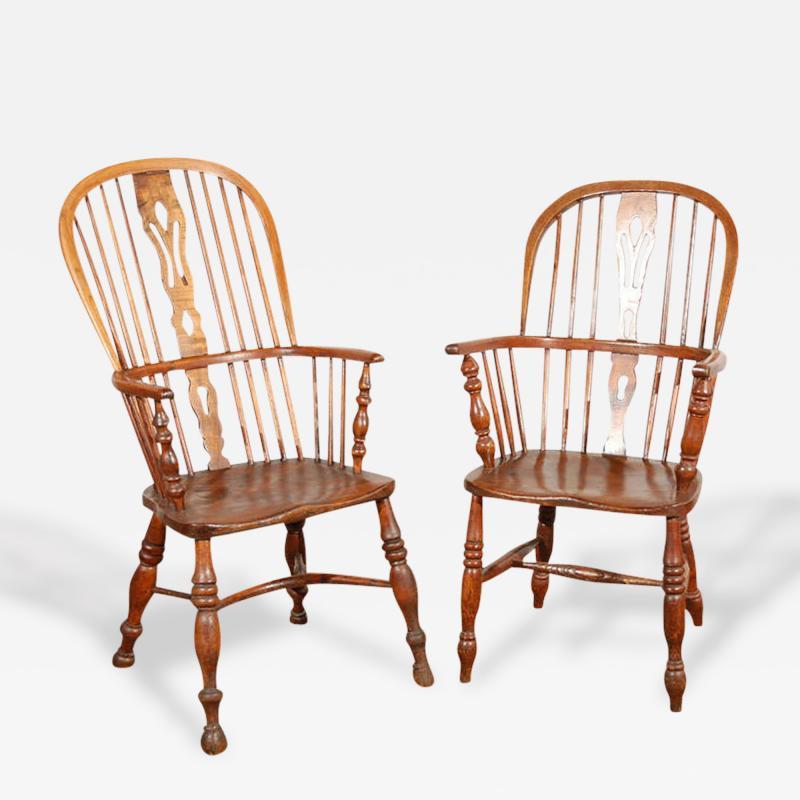 English Windsor Arm Chairs