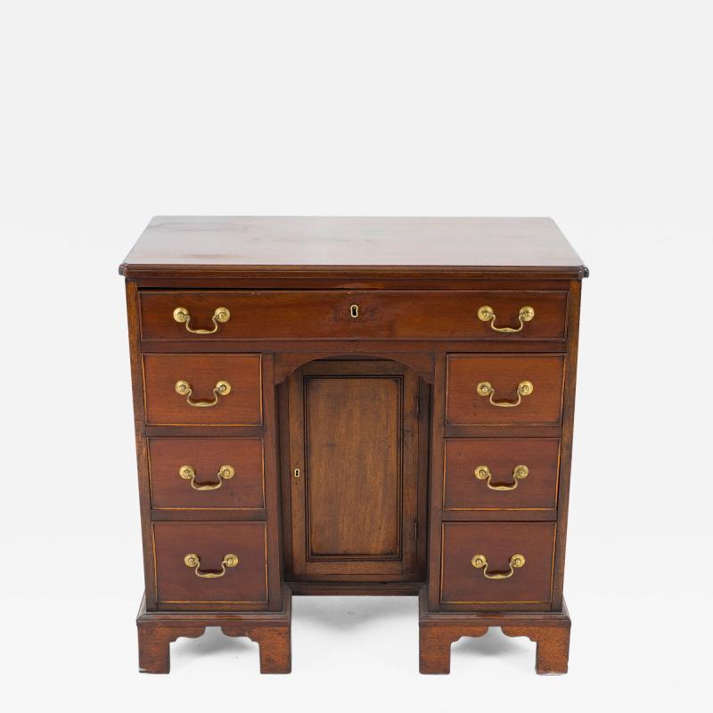 English mahogany knee hole dressing table