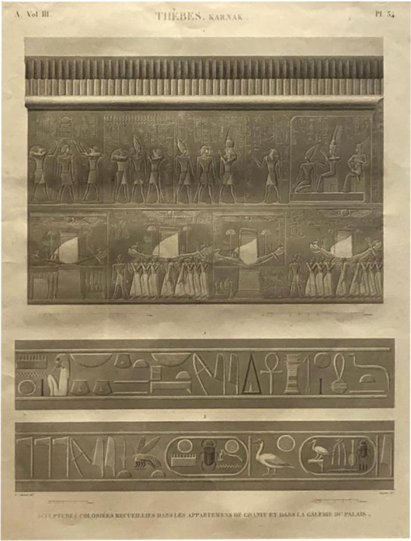 Engraving of an Egyptian Monument France Circa 1810