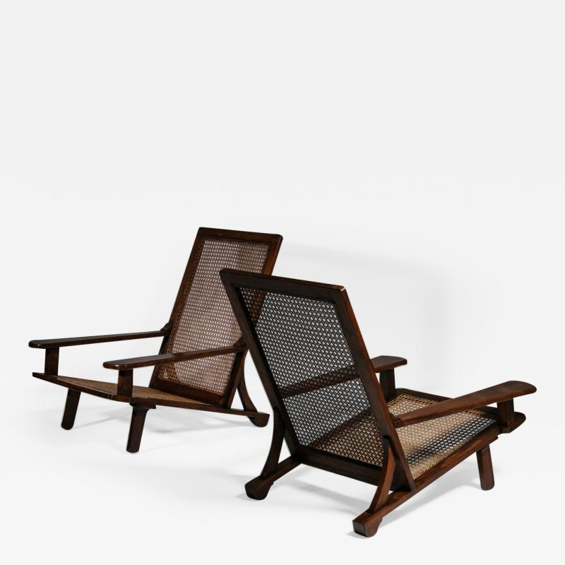 Enrico Galassi Pair of Lounge Chairs by Enrico Galassi
