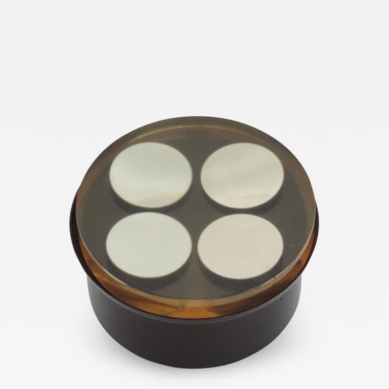 Enzo Mari Enzo Mari Acrylic and Metal Box for Danese