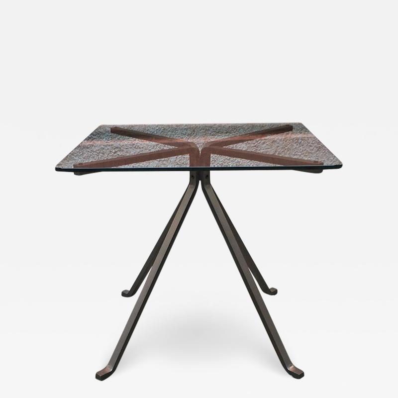 Enzo Mari Smoked table mod Cugino by Enzo Mari for Driade 1973