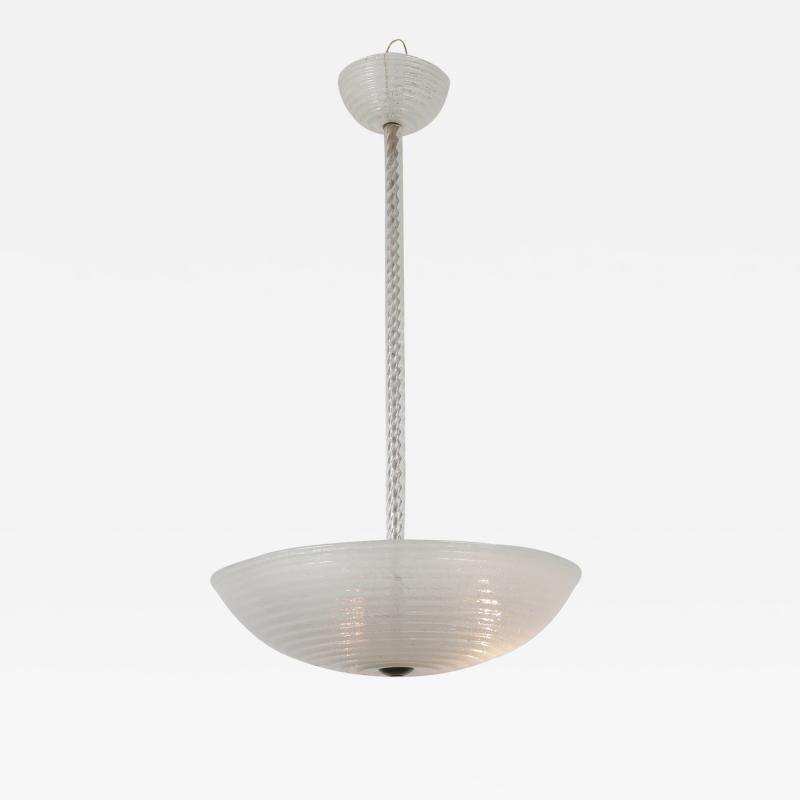 Ercole Barovier Ercole Barovier Murano Glass Hanging Lamp Italy 1930