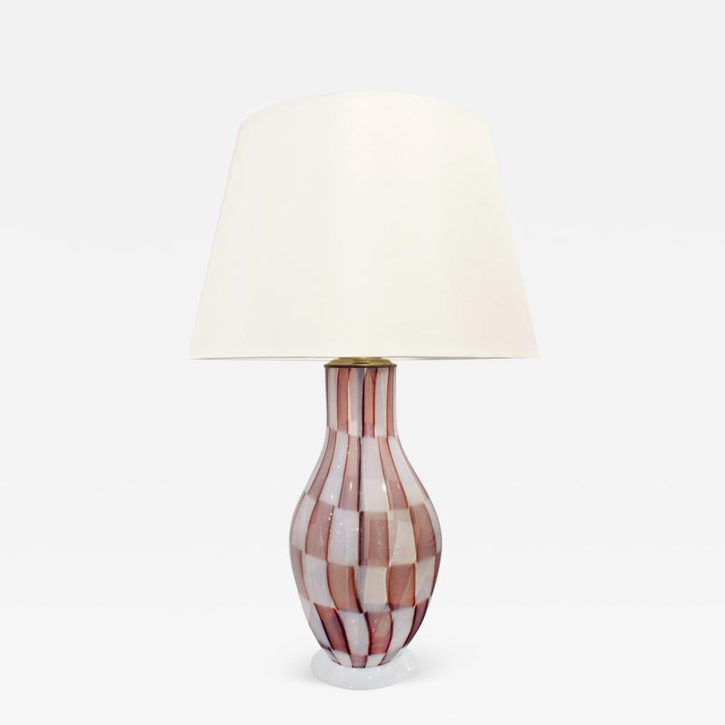 Ercole Barovier Rare Hand Blown Pezzato Table Lamp 1950s