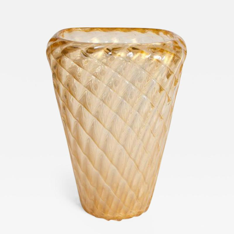 Ercole Barovier Large Iridescent Italian Art Glass Murano Vase Attributed to Ercole Barovier