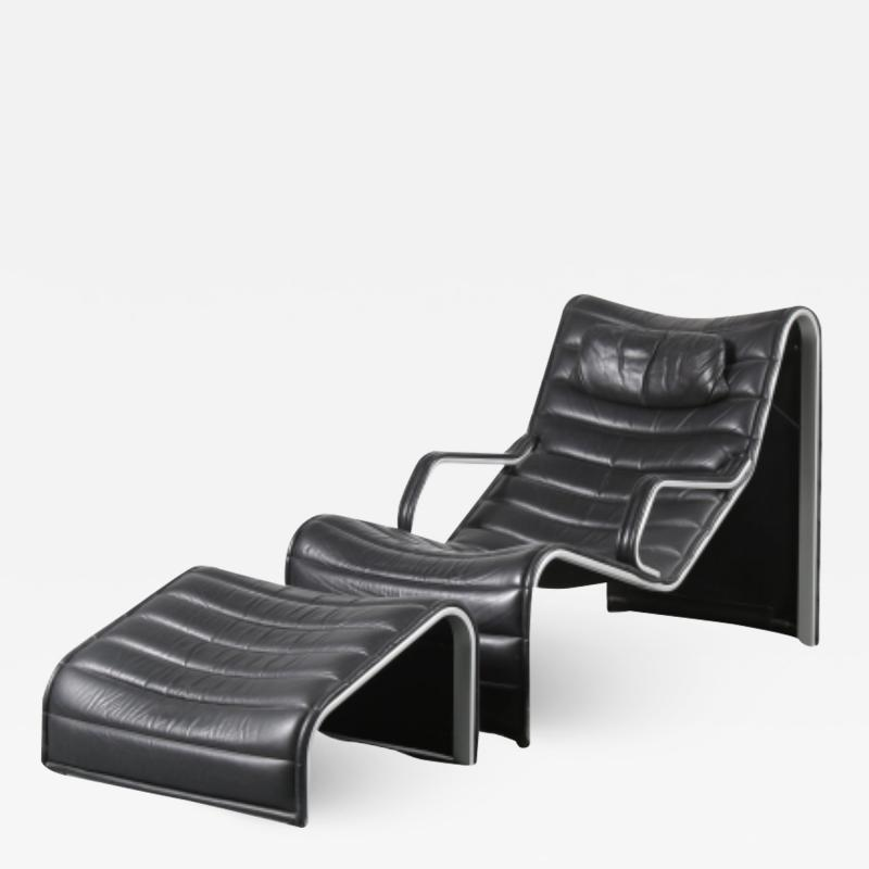 Eric Sigfrid Persson Lounge Chair with Ottoman for M belkultur AB in Sweden