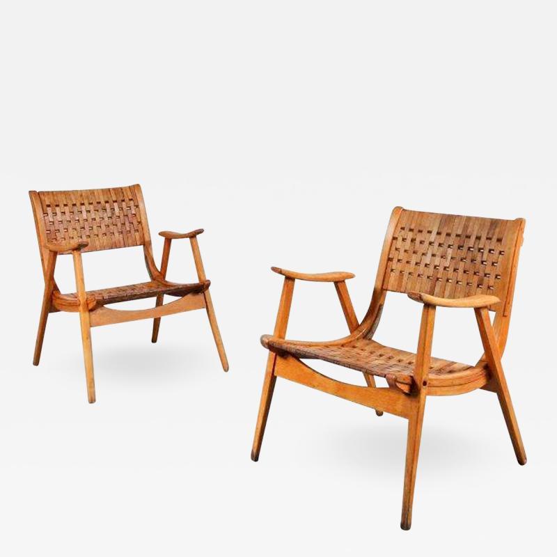 Erich Dieckmann Pair of Erich Dieckmann Lounge Chairs for Gelanka Tyskland Germany 1930s