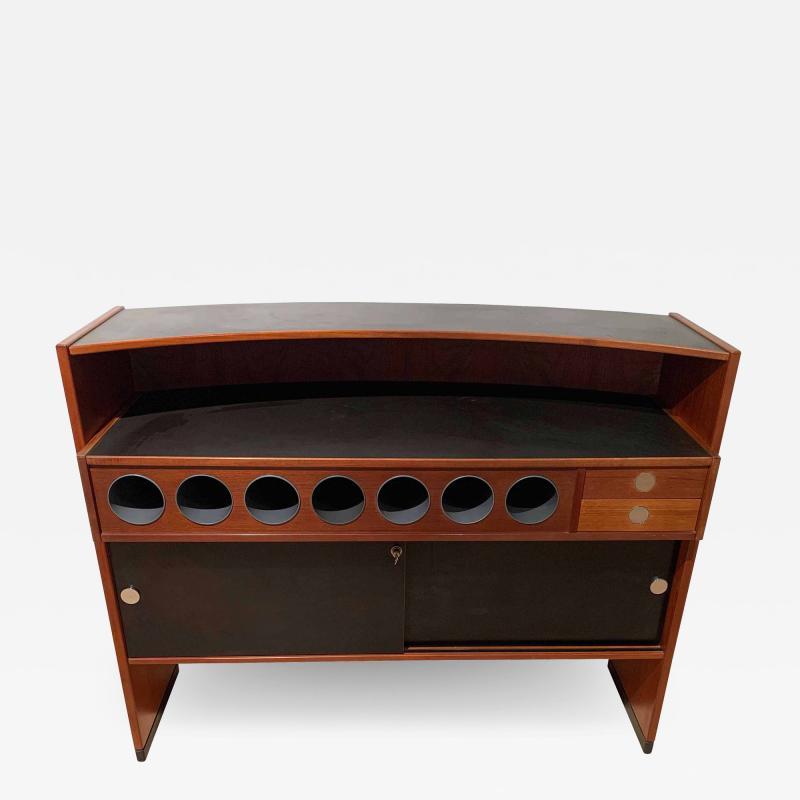 Erik Buch Mid Century Modern Teak Wood Bar Cabinet by Erik Buch for Dyrlund Denmark 1960s