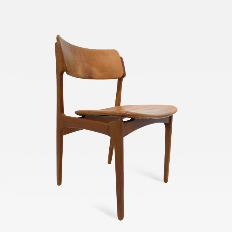 Erik Buck Early Erik Buck Chair in Teak and Leather
