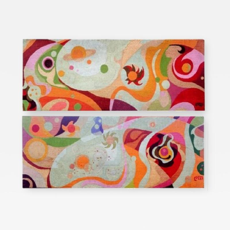 Erminio Lozzi Two large tapestries by Erminio Lozzi 1970s period