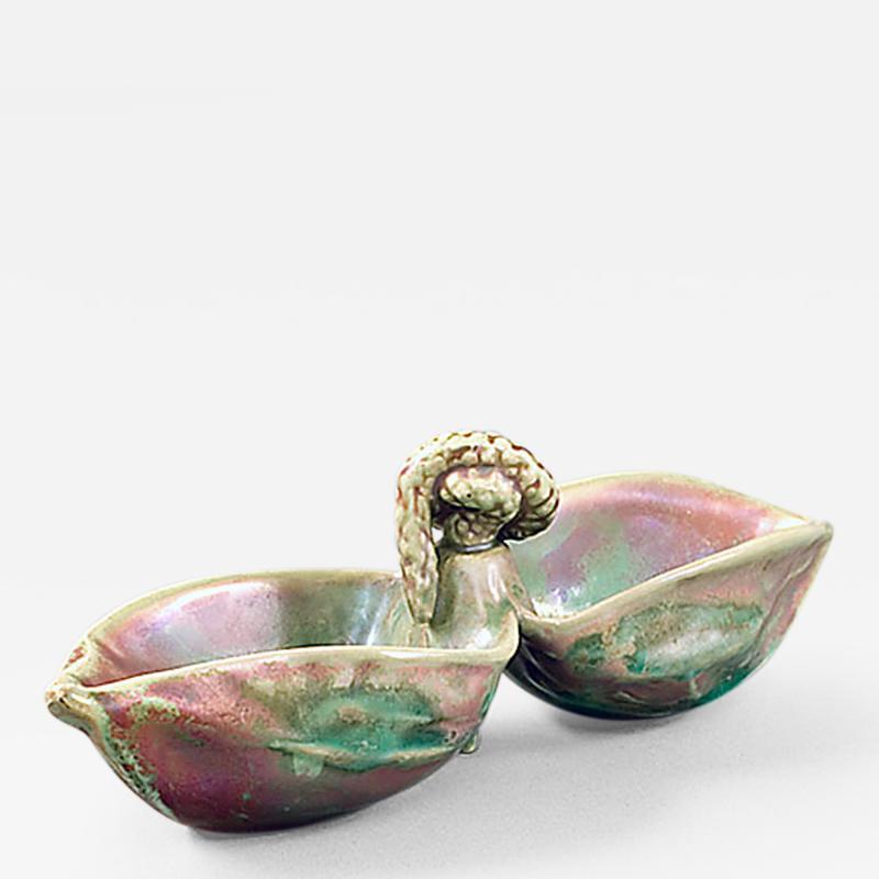 Ernest Bussi re French Art Nouveau Ceramic Vide Poche