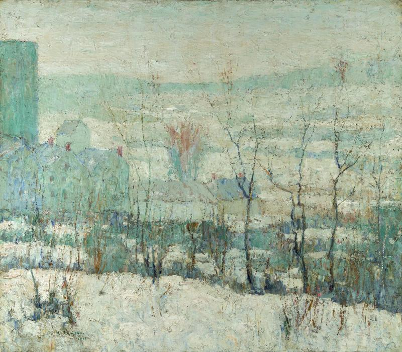 Ernest Lawson New York Farm in Winter