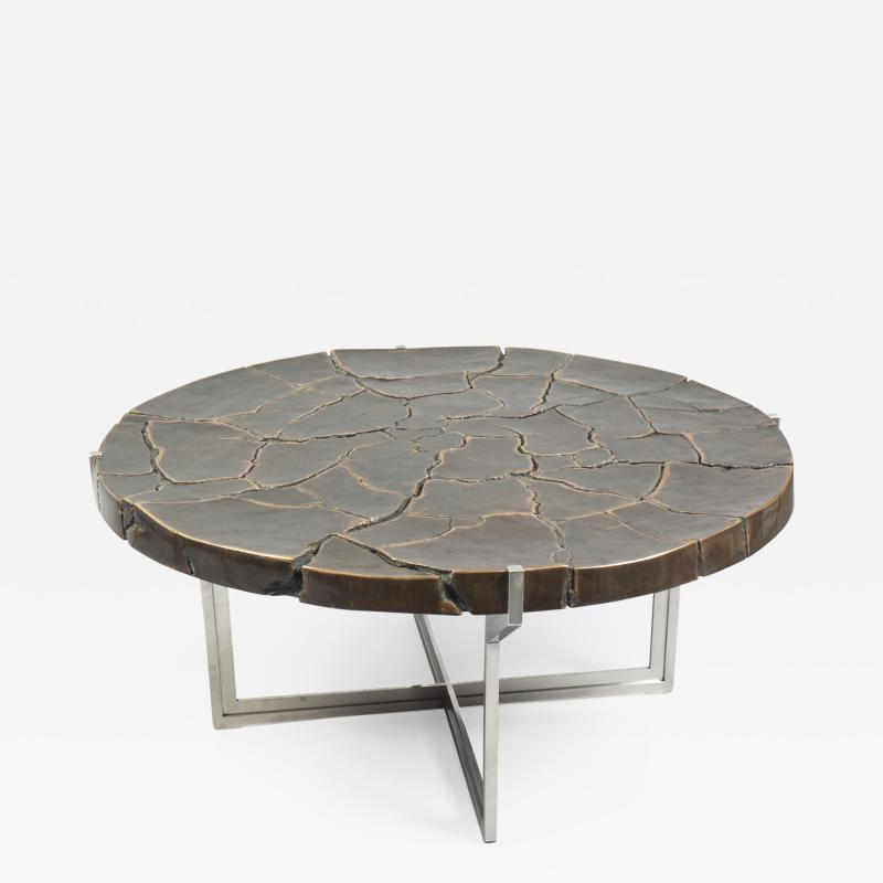 Erwan Boulloud Solid Bronze Coffee Table by Erwan Boulloud France 2017