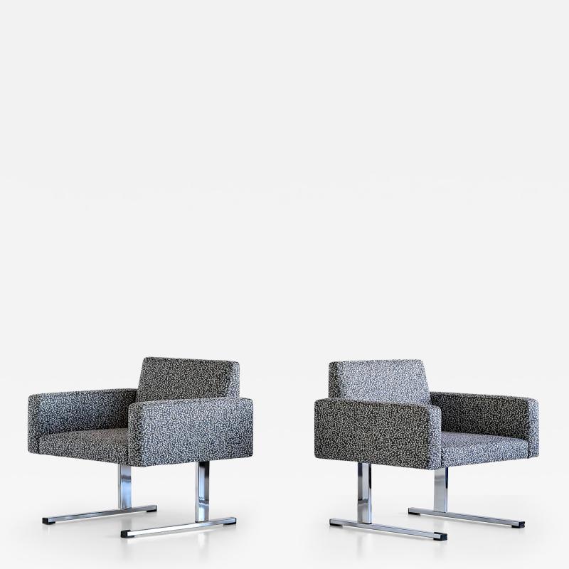 Esko Pajamies Pair of Esko Pajamies Lounge Chairs in Raf Simons Fabric Merva Finland 1960s