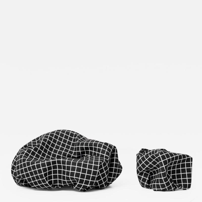 Esther Stocker WRINKLE PLANET KNITTERPLANET a sculpture for seating landscape