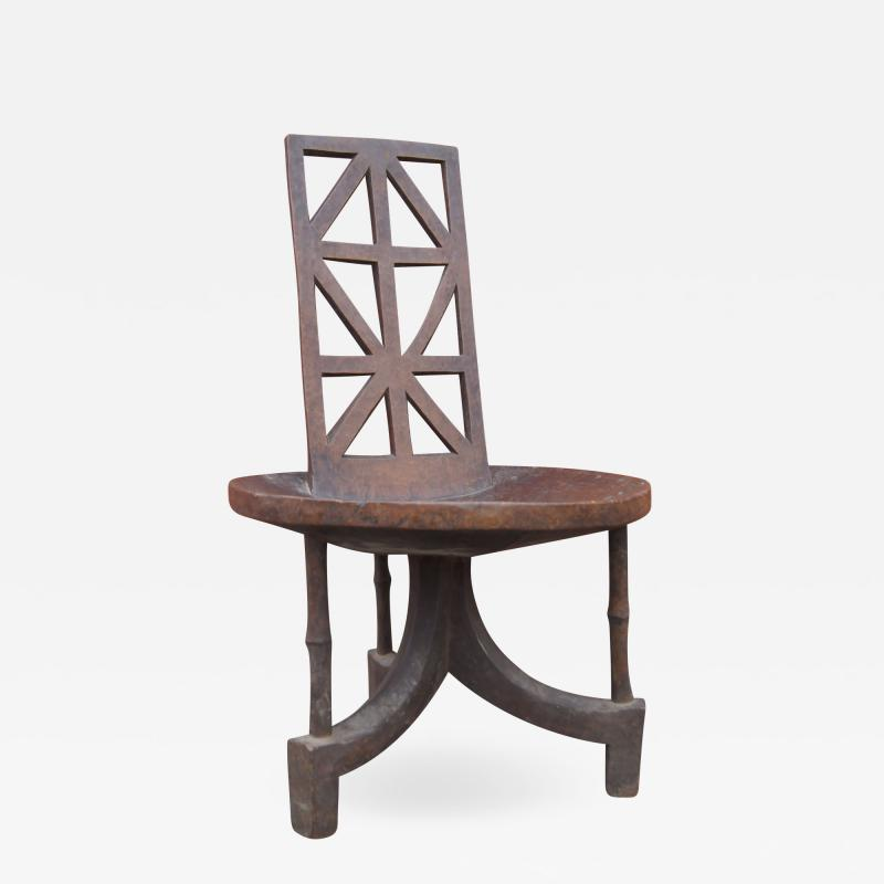 Ethiopian Chair of Carved Wood