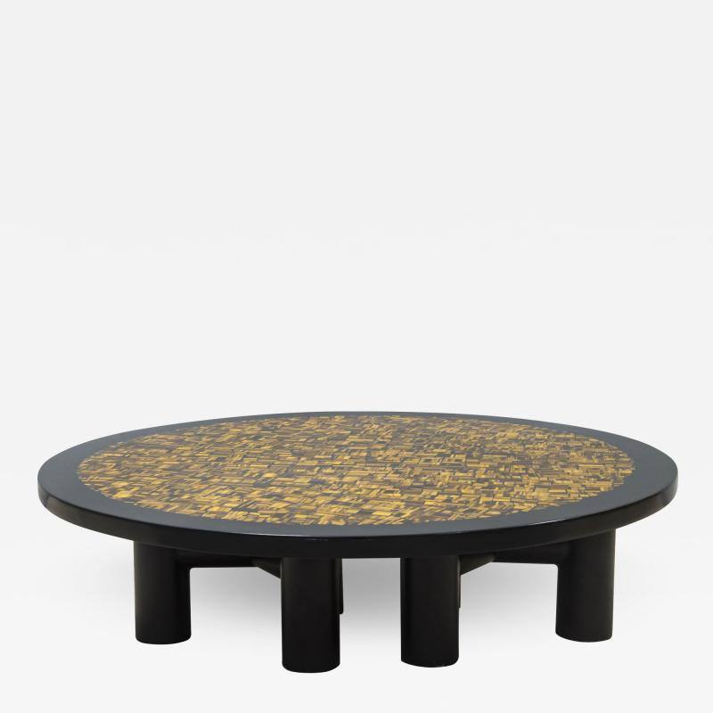 Etienne Allemeersch Tiger eye coffee table