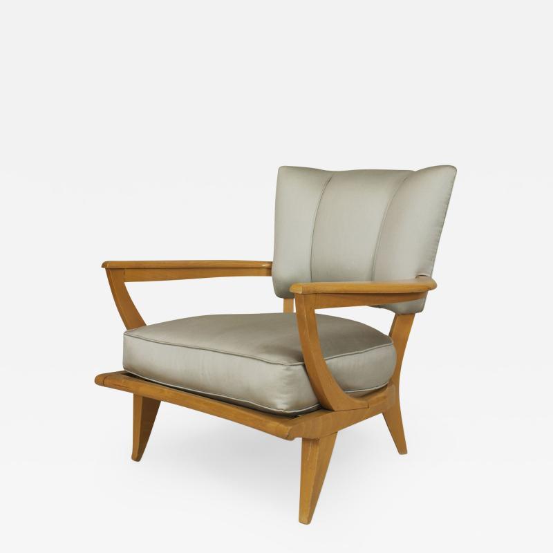 Etienne Henri Martin French 1950s Maple Armchair