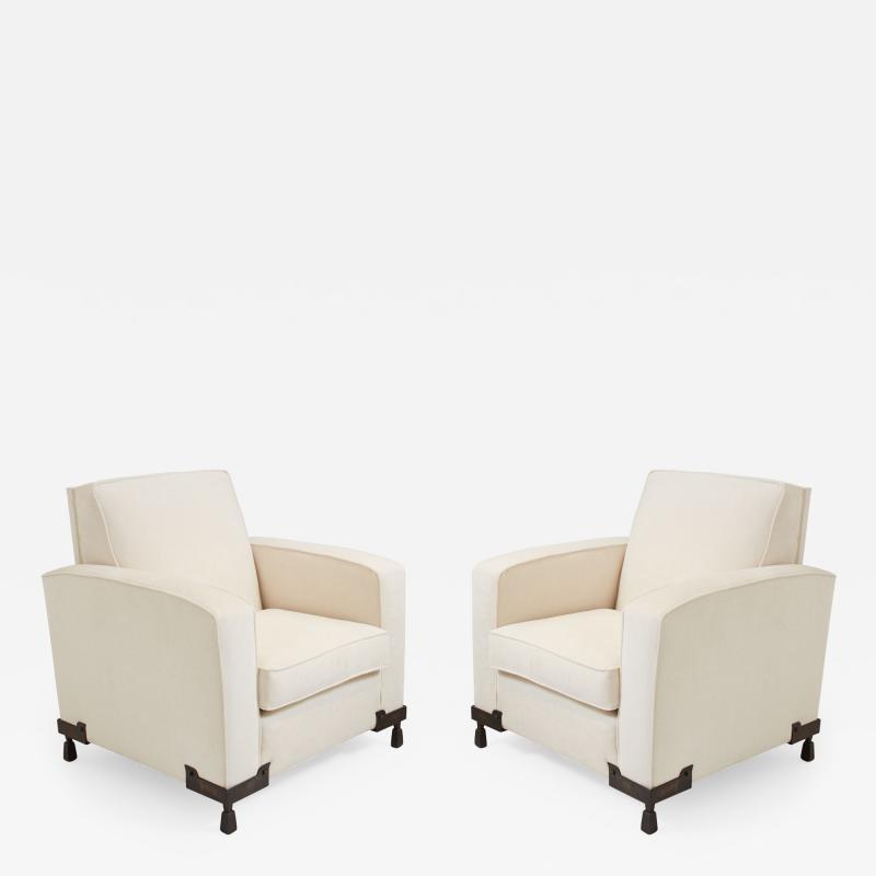 Etienne Kohlmann Pair of Club Chairs
