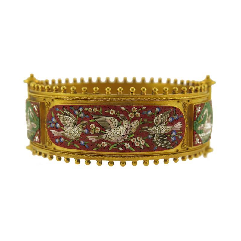 Etruscan Revival Micromosaic Bangle