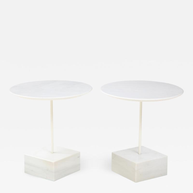 Ettore Sottsass Ettore Sottass Primavera Carrara Marble Side Tables