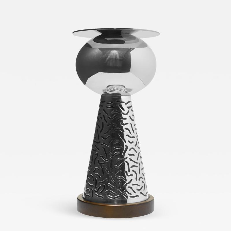Ettore Sottsass Ettore Sottsass German Silver vase from the Bharata series