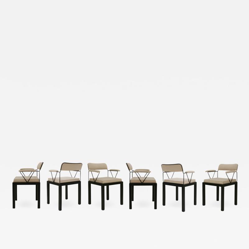 Ettore Sottsass Ettore Sottsass Model Lodge Italian 1986 Set of Six Chairs