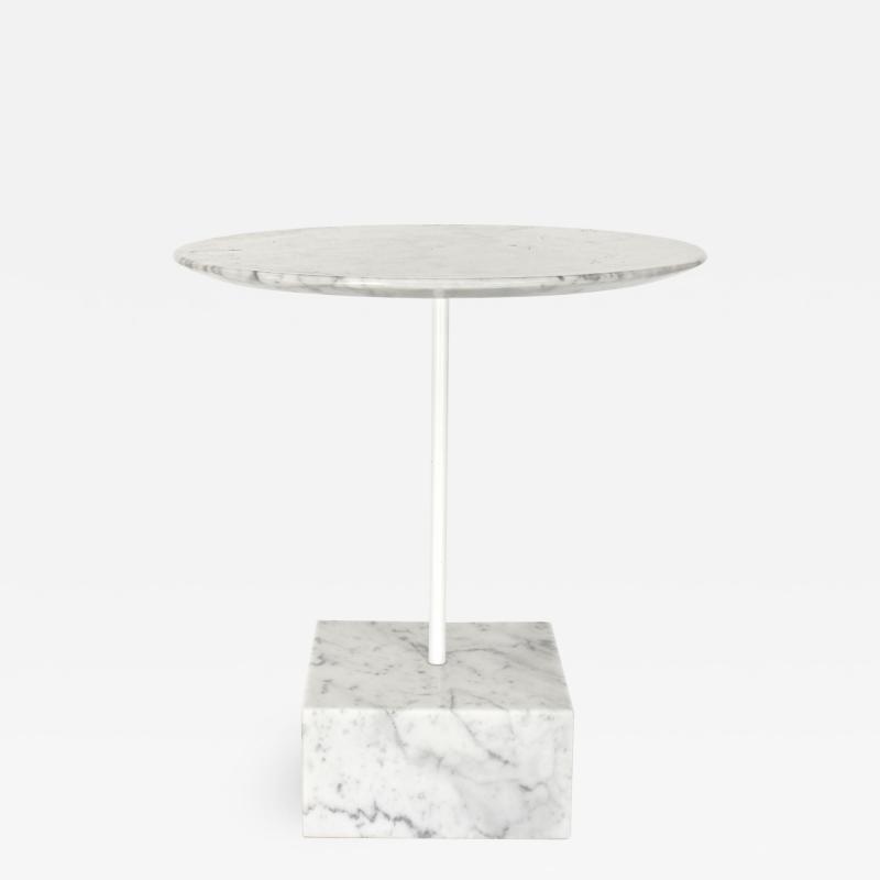 Ettore Sottsass Ettore Sottsass Primavera Carrara Marble Side Table Ultima Edizione