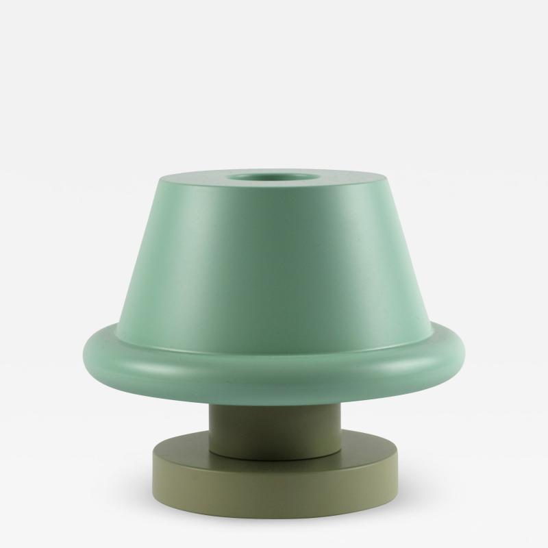 Ettore Sottsass Ettore Sottsass Senape Vase Light Blue Sand Gray