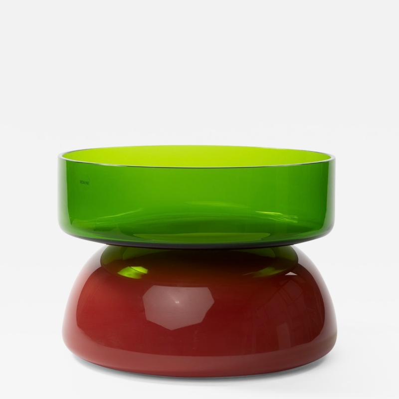 Ettore Sottsass Murano Venini Puzzle Mouth Blown Glass Centerpiece by Ettore Sottsass