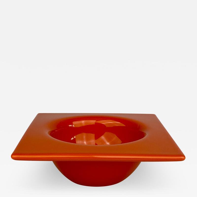 Ettore Sottsass Sottsass Squared Circle Bowl Red