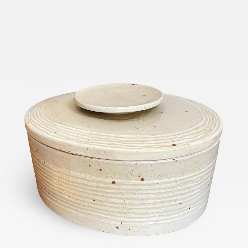 Eva St hr Nielsen Lidded Stoneware Box by Eva Staehr Nielsen for Royal Copenhagen