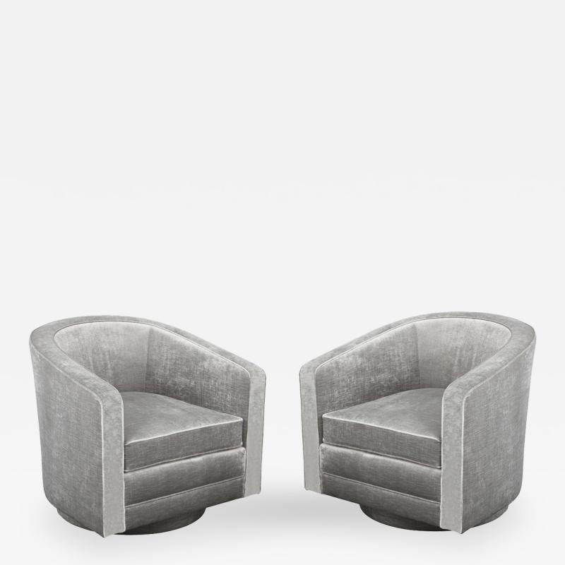 Evan Lobel Swiveling Sutton Lounge Chair by Evan Lobel for Lobel Originals