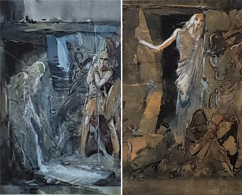 Everett Shinn Pair of 1939 Watercolors by American artist Everett Shinn