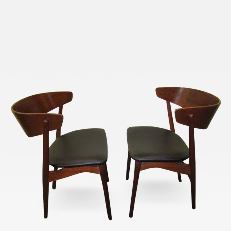 Excellent Pair of Danish Modern Bentwood Teak Dining Chair