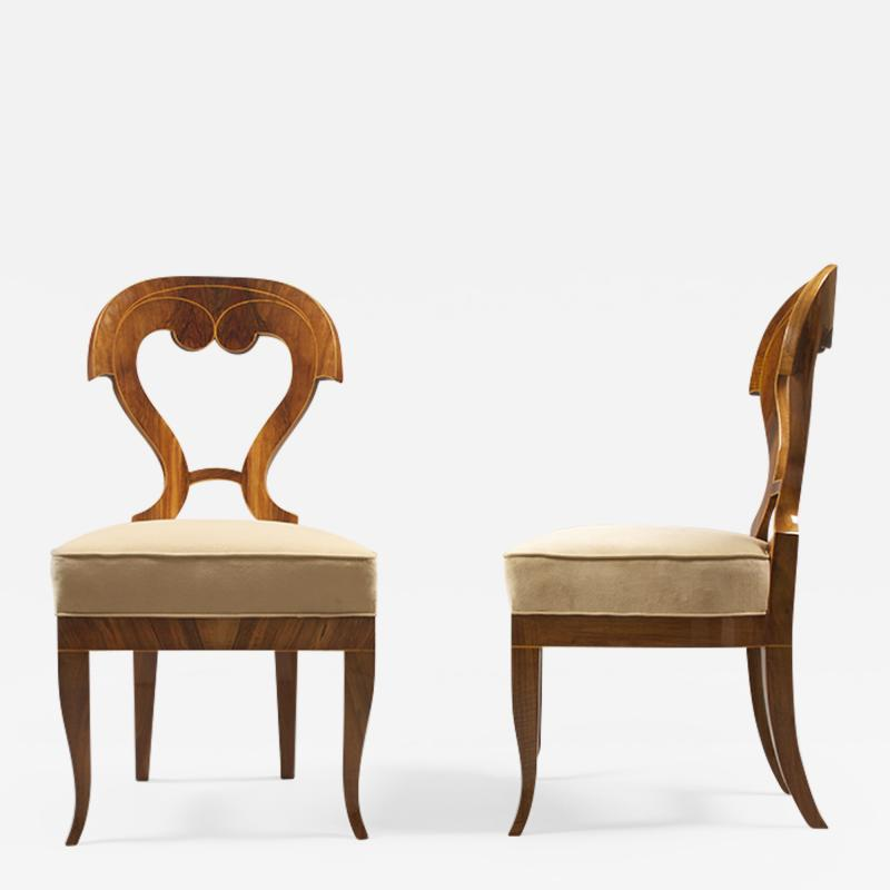 Exceptional Biedermeier Side Chairs