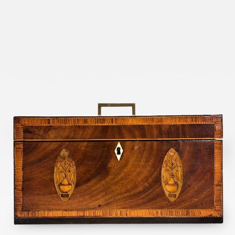 Exceptional George III Inlaid Tea Caddy