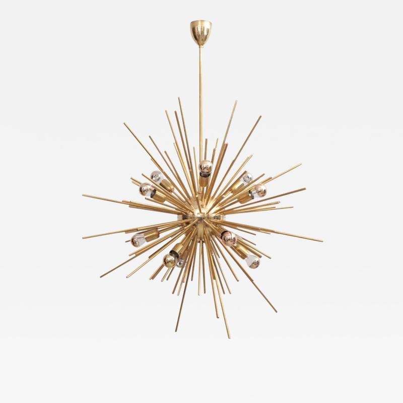 Exceptional Huge Brass Sputnik Chandelier