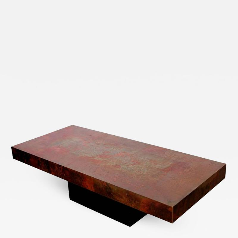 Exceptional Huge and Very Rare Copper Coffee Table by Bernhard Rohne