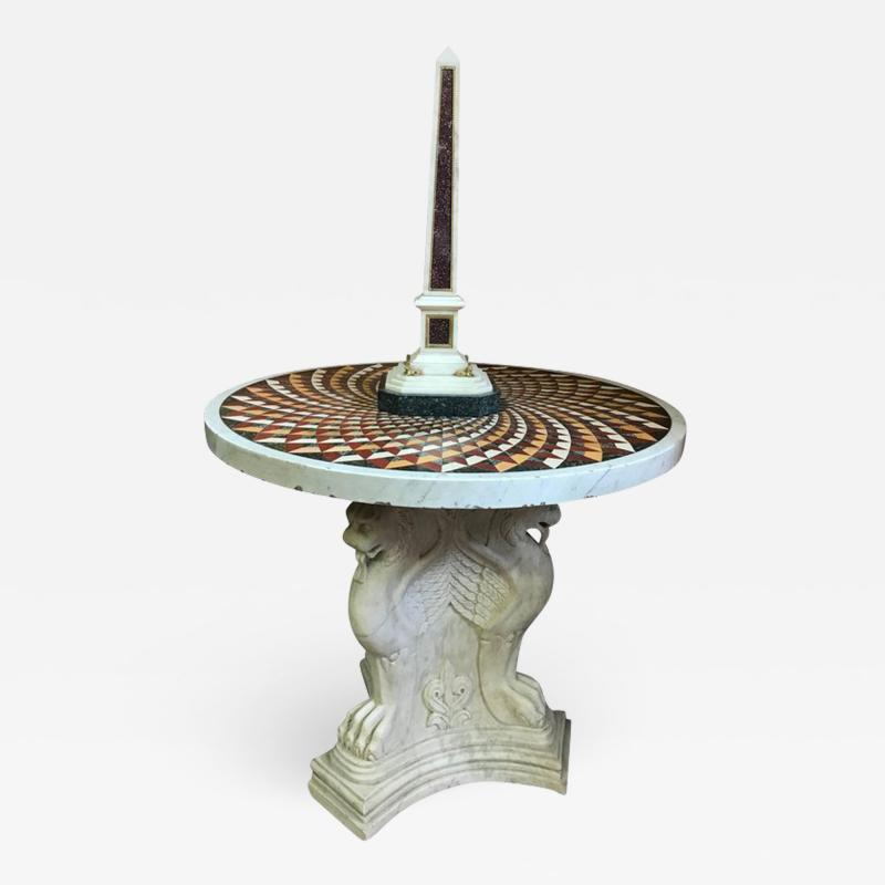 Exceptional Italian Pietra Dura Marble Centre Table