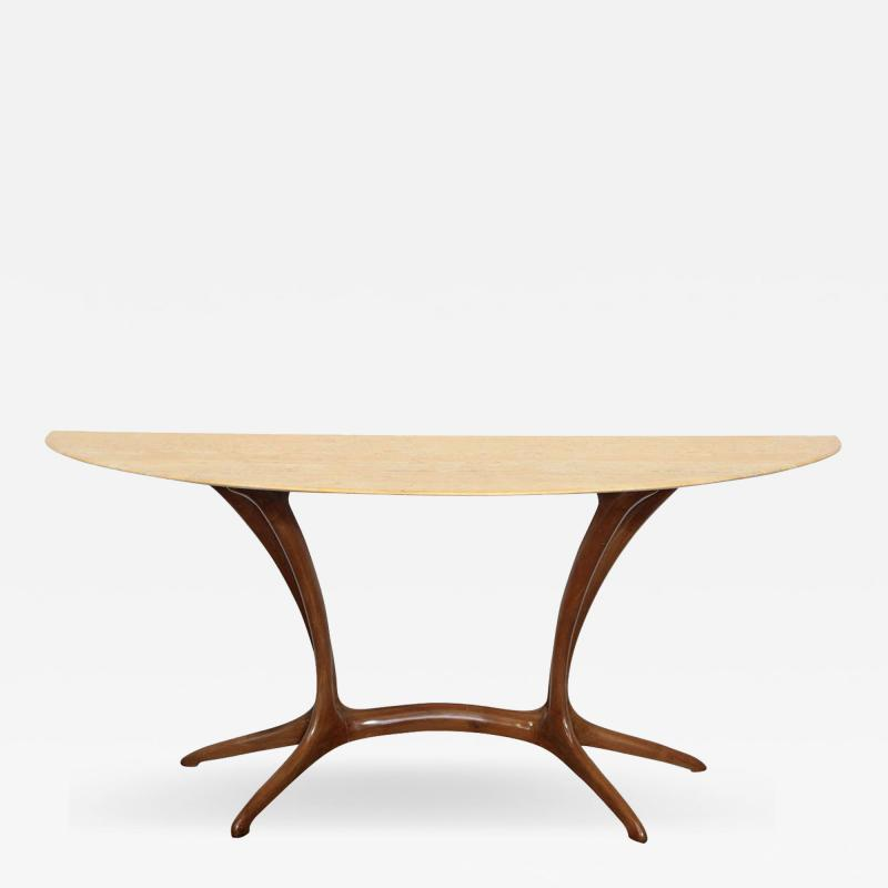 Extraordinary Console Made in Milan 1950